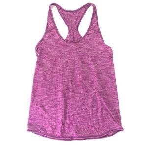 Lululemon tank razor back twist pink Size 2